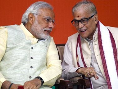 Narendra Modi with Murali Manohar Joshi. File photo. News 18