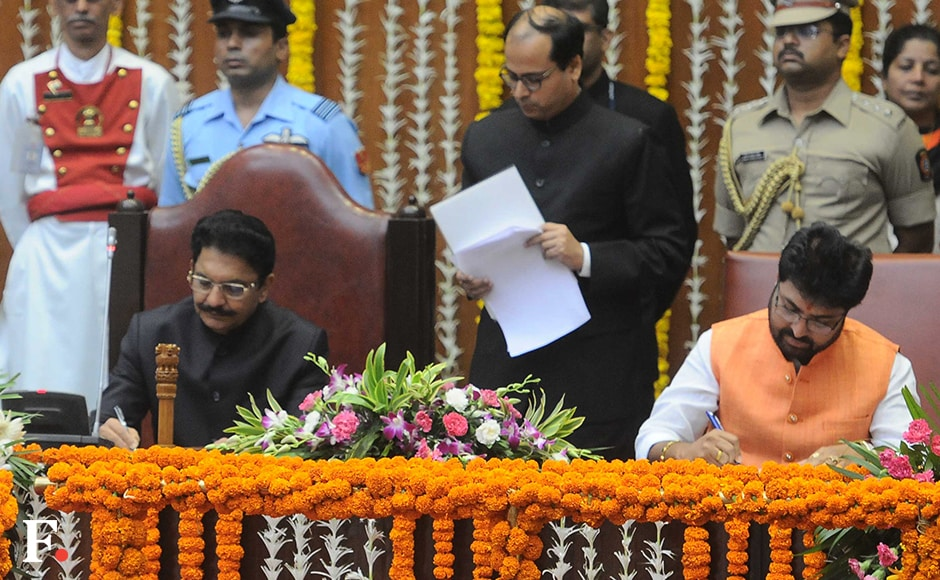 Arjun Khotkar, a Shiv Sena MLA from Jalna constituencey, was inducted as minister of state. He has been the minister of state earlier during the Shiv Sena government in 1994. Sachin Gokhale/Firstpost