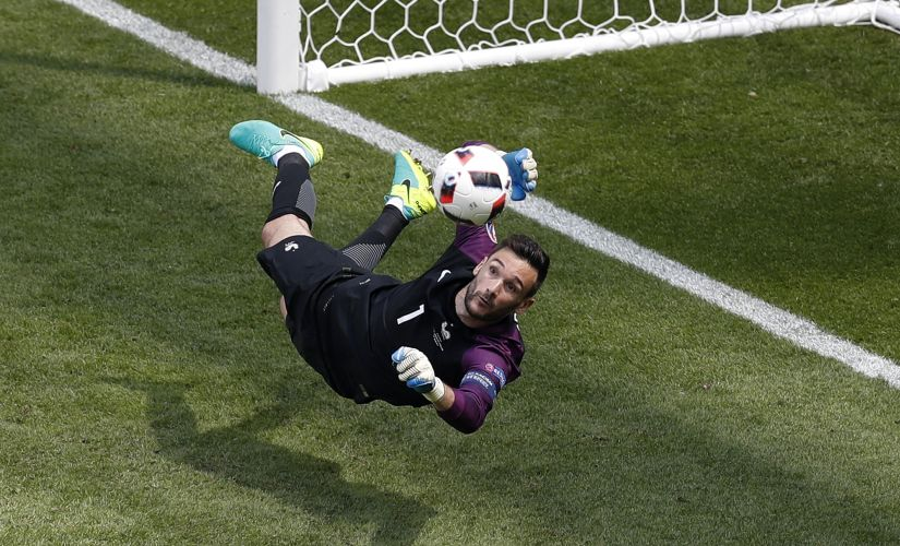 France goalkeeper Hugo Lloris deflects a shot during the Euro 2016 round of 16 match against Ireland. AP