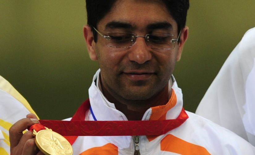 Abhinav Bindra with his gold medal at Beijing 2008. Reuters