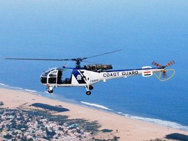 A Coast Guard helicopter. Image courtesy Coast Guard