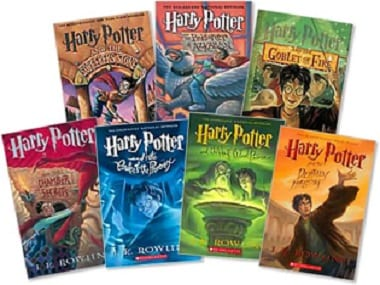 Image result for harry potter rowling books