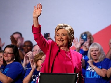 Hillary Clinton waves to supporters. Reuters