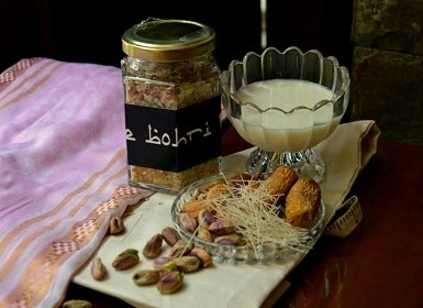 On a Bohri 'thaal' for Eid: 'Sheer khurma', 'dal chawal palida' and festive wishes