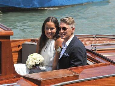 Tennis ace Ana Ivanovic weds German footballer Bastian Schweinsteiger in Venice