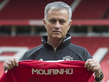 Jose Mourinho addressed the media for the first time as Manchester United manager. AFP
