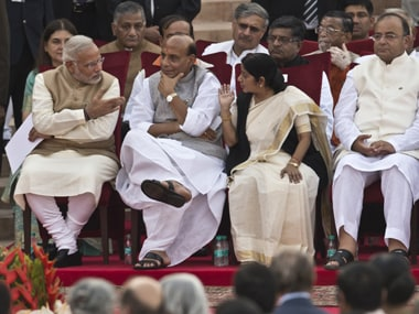 File image of PM Modi along with senior cabinet ministers. AFP