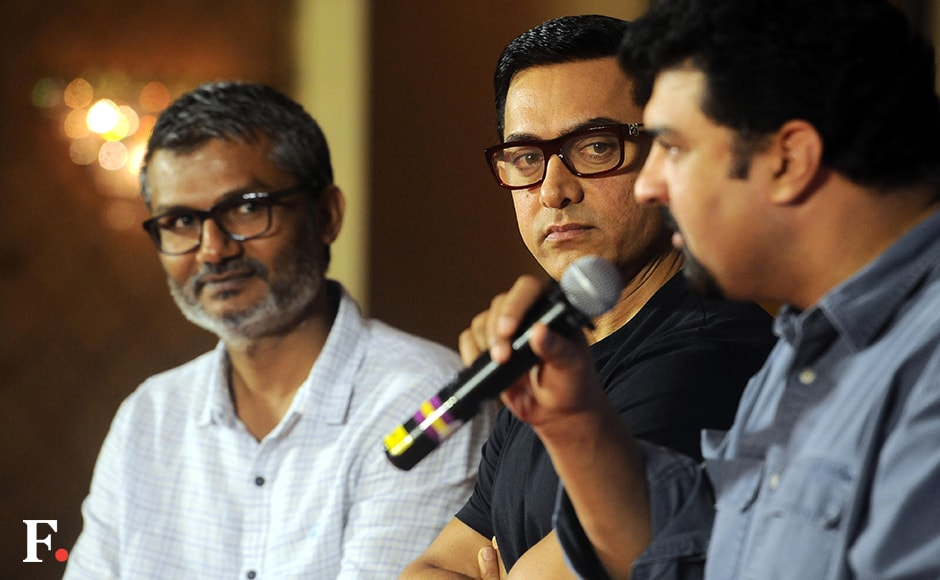 Aamir plays a 20-year-old Mahavir Singh Phogat, who is a wrestler, and then a 60-year-old Phogat, who trains his daughters Geeta and Babita to become Commonwealth champions in the sport. He first gained and then lost a huge amount of weight to play the different ages of his character in the movie. Image by Sachin Gokhale/Firstpost