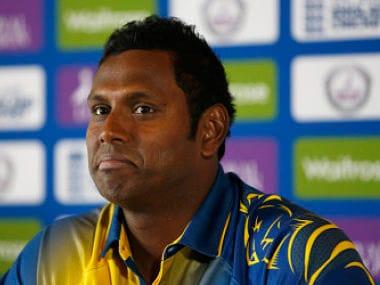 Sri Lanka's capatin Angelo Mathews. Reuters