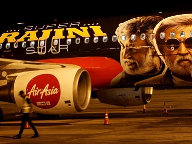AirAsia dedicated an aircraft to Rajinikanth and Kabali. PTI
