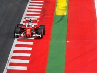 Sebastian Vettel of Germany drives during a training ahead of Austrian GP. Reuters