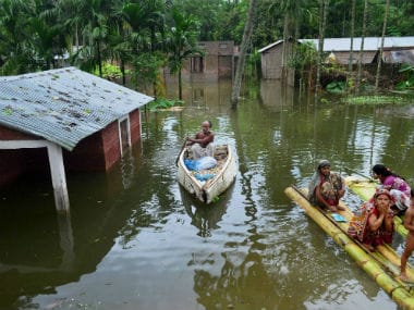 File image of floods in Assam. PTI