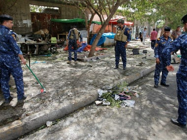 Police investigate the site of attack. Reuters