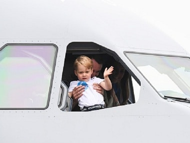 In photos: Prince George's day out at the royal air show looks like a lot of fun