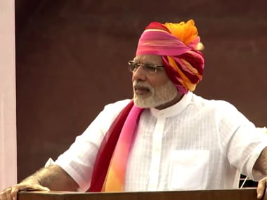 Prime Minister Narendra Modi at Red Fort on Independence Day. Photo courtesy: YouTube/NarendraModi