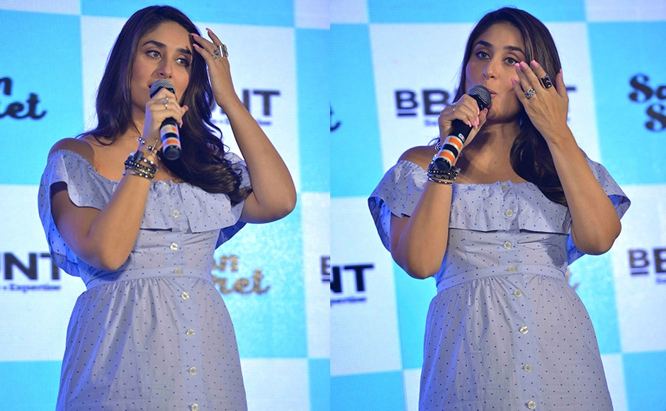 Kareena Kapoor was at the promotional event to launch BBlunt's Salon Secret hair colour. Sachin Gokhale/Firstpost