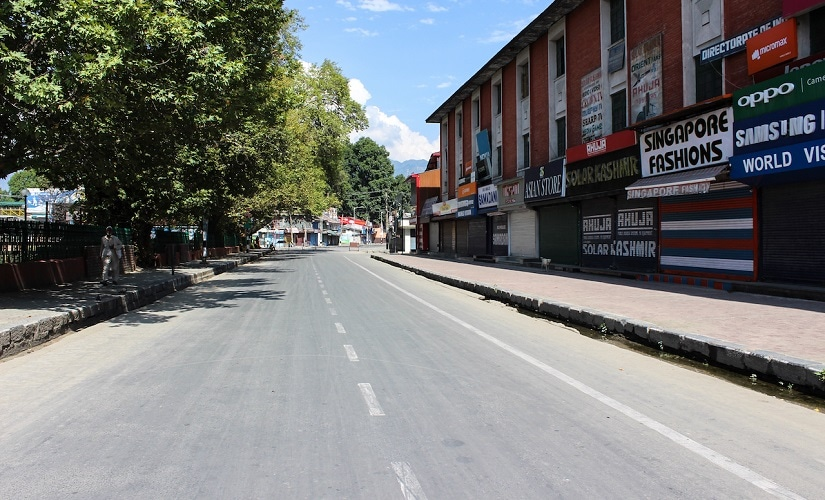 The normally bustling area outside the press enclave in Srinagar has fallen as silent as the rest of the city. Firstpost/Sameer Yasir