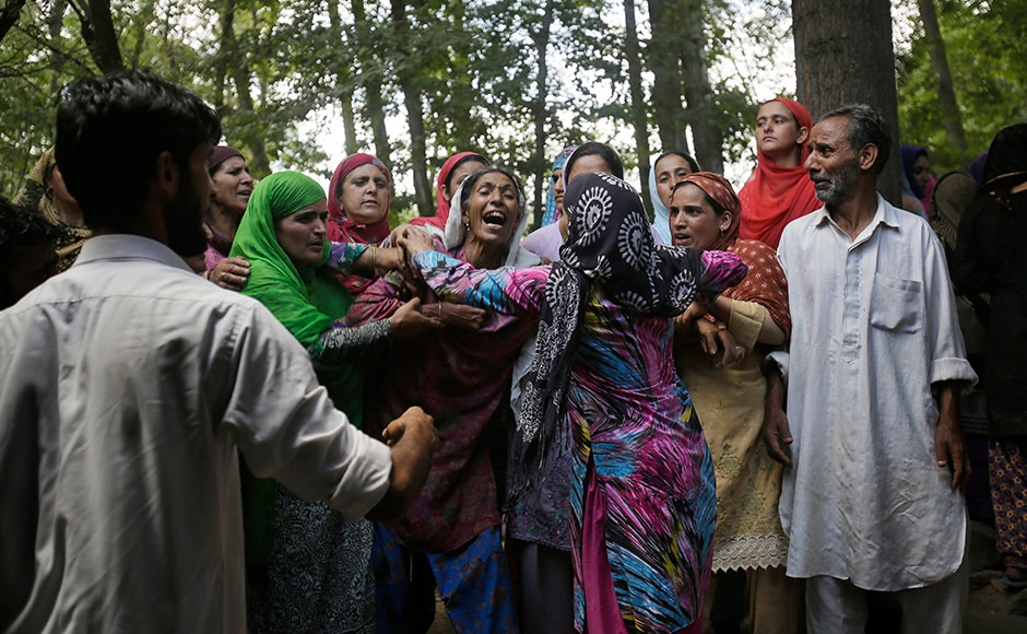 Clashes, encounters, and slogans continued on 38th and now will continue on 39th day as Kashmir continues to reel under a strict curfew. Over 80 people were injured on Sunday, some with pellets, in forces' action on pro-freedom protesters. AP