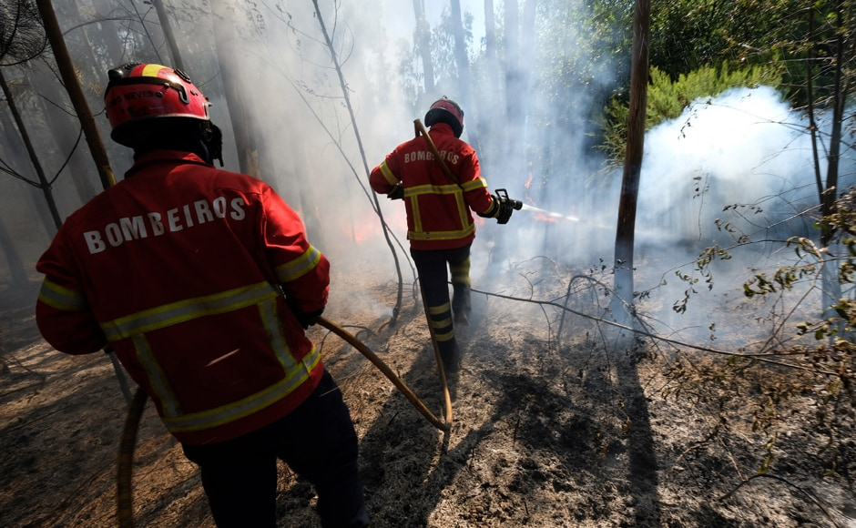 The Madeira blaze broke out Monday and firefighters said the island's steep hills and dense woodland made it hard to reach the flames. Albuquerque, the regional government chief, said officials suspect that fire was started deliberately and police have made two arrests. AP