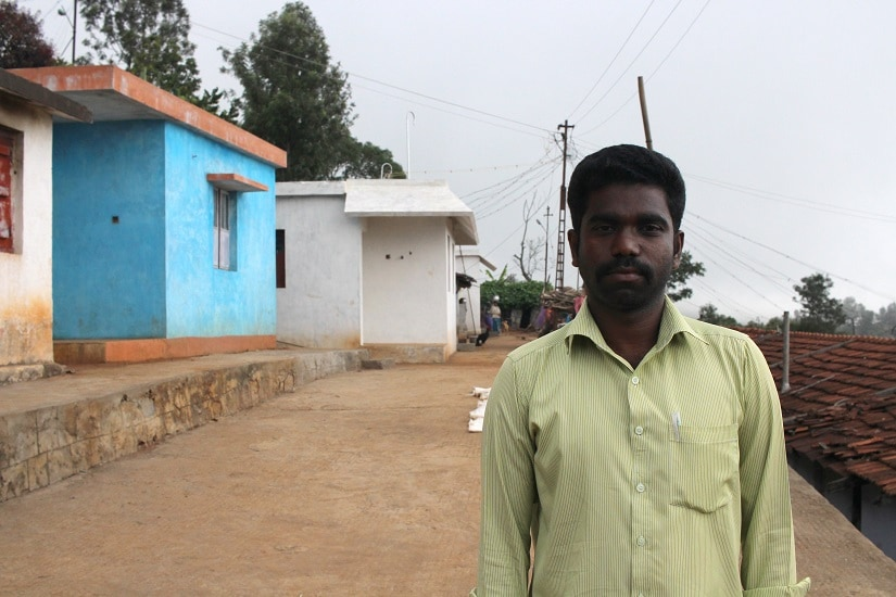R Viswanathan in his village. Photo by Sibi Arasu
