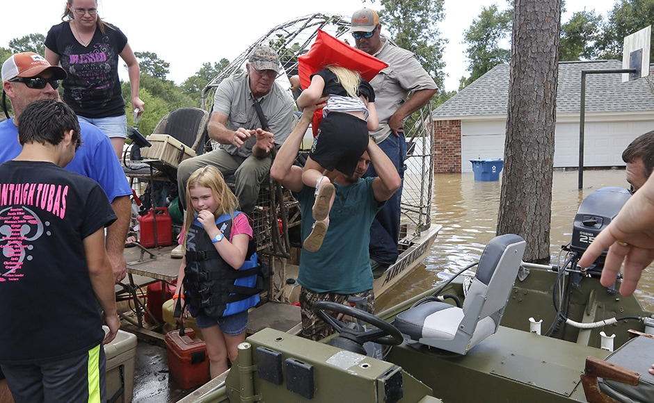 Around 10,000 people are living in emergency shelter. The Federal Emergency Management Agency has asked those affected by the floods to apply for assistance. Photo: Reuters