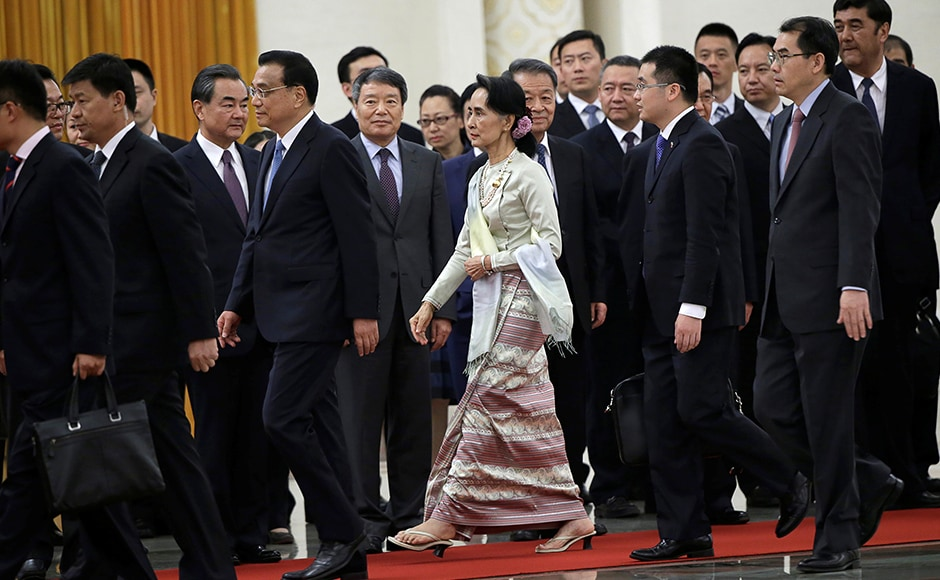 Suu Kyi is also expected to discuss the peace process in Myanmar as the country gets ready to hold a national meeting to establish peace with ethnic minority guerrillas, two weeks from now. Reuters