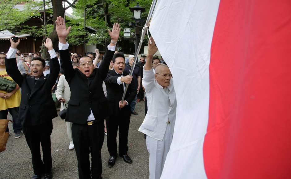 Japan marked 71 years of the end of World War I with its mayor lauding a visit by US President Barack Obama to Hiroshima earlier this year. Photo: AP