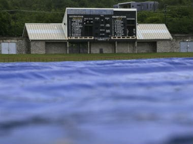 The covers were out for the most part on Day 3, before play was ultimately called off without a ball being bowled. AP