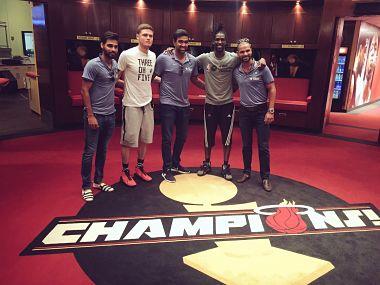 Indias Ravichandran Ashwin, Shikhar Dhawan, Bhuvaneshwar Kumar visit Miami Heat in Florida