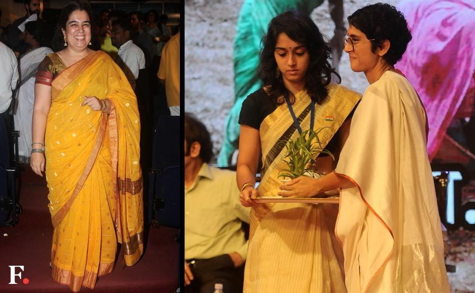 Reena Dutt poses for the camera. Ira Khan and Kiran Rao together. Sachin Gokhale/Firstpost