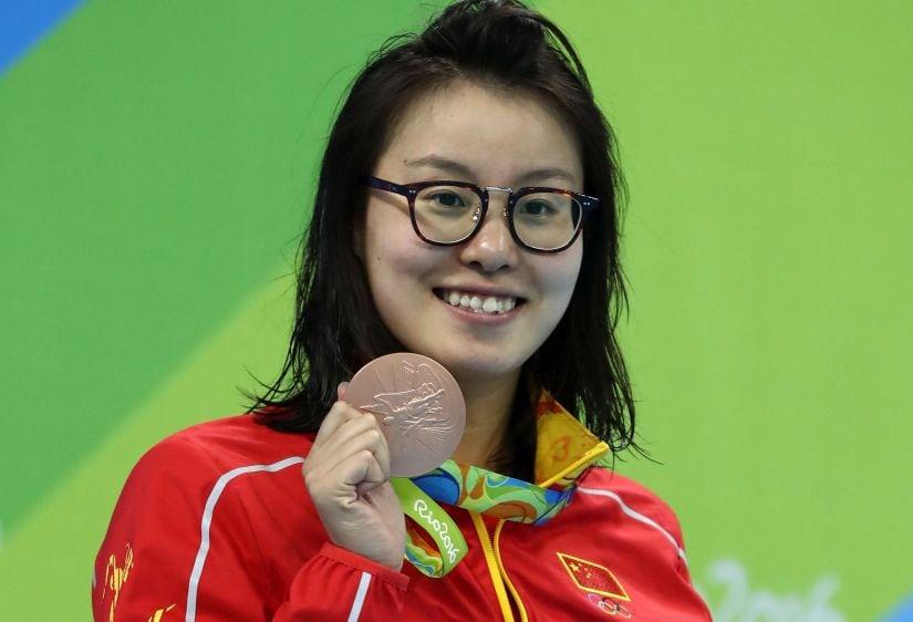 Fu Yuanhui. Getty Images