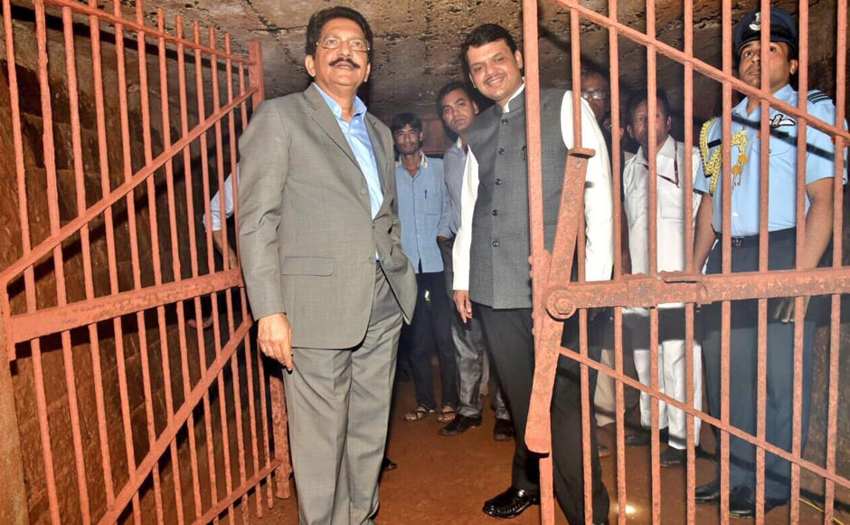 Governor C.V. Rao and senior officials went around the bunker on Tuesday. Around three months ago, some old-timers informed the Governor of the existence of a tunnel inside the Raj Bhavan on the shores of the Arabian Sea. He asked to get it opened. Image: CMO