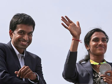 PV Sindhu and Pullela Gopichand. AP
