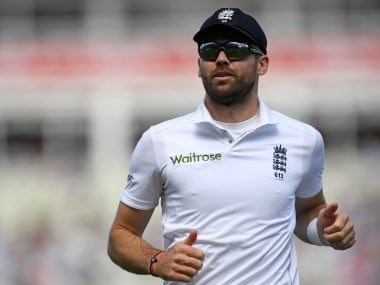File photo of England's James Anderson. AFP