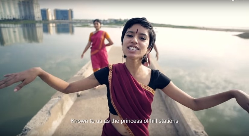 Sofia Ashraf in the Kodaikanal Won't video. Screengrab from YouTube