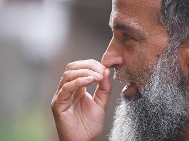 Mohammad Muzaffar Wani, father of Burhan Wani. Reuters