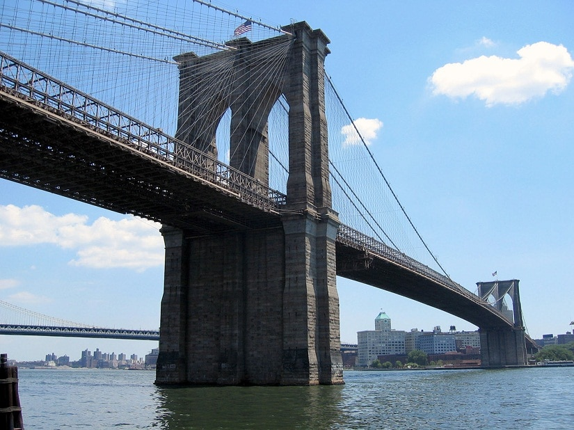 A view of the Brooklyn Bridge. Photo courtesy Petr Broza/Freeimages