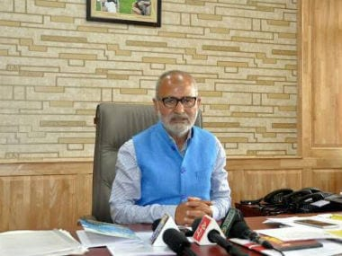 File image of Jammu and Kashmir Education Minister Naeem Akhtar. Facebook/Naeem Akhtar