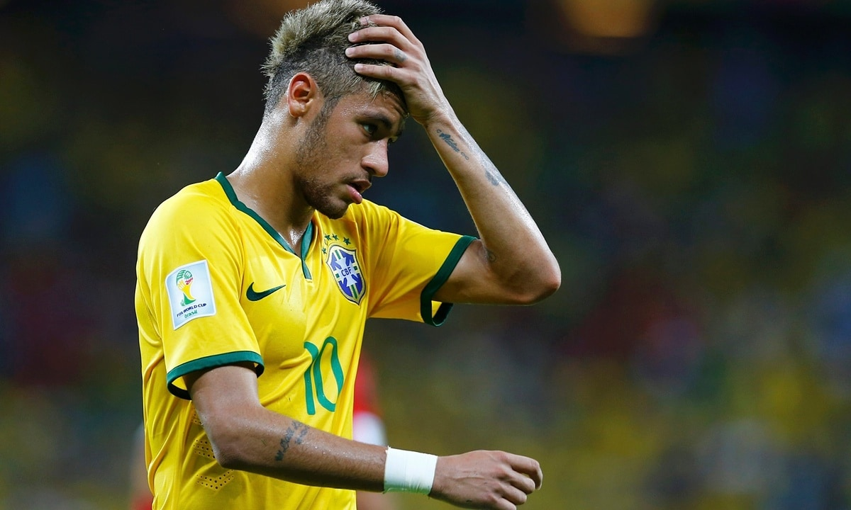 Neymar was frustrated by the South African defenders. Reuters