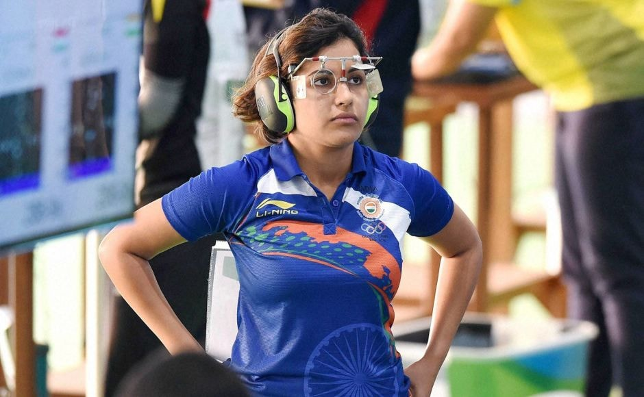 Rio de Janeiro: India's shooter Heena Sidhu during the qualifying round of 50M Pistol event at the Summer Olympic 2016 at Rio de Janeiro, Brazil on Tuesday. PTI Photo by Atul Yadav (PTI8_9_2016_000323B)