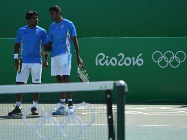 Leander Paes-Rohan Bopanna at the Rio Olympics. AFP