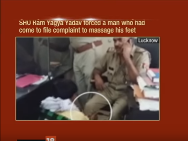 Watch: UP policeman makes complainant massage his feet, suspended