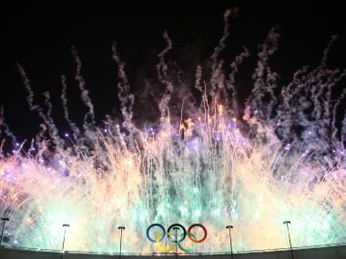 Fireworks explode over the Maracana stadium. Reuters