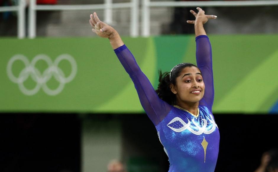 2016 Rio Olympics - Artistic Gymnastics - Final - Women's Vault Final - Rio Olympic Arena - Rio de Janeiro, Brazil - 14/08/2016. Dipa Karmakar (IND) of India competes. REUTERS