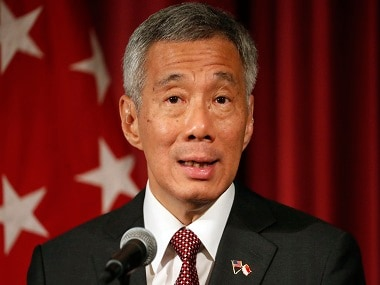 Singapore Prime Minister Lee Hsien Loong speaks at the U.S. Chamber of Commerce during a reception and discussion, Monday, Aug. 1, 2016 in Washington. Prime Minister Lee discussed the Trans Pacific Partnership, TPP, and other topics. (AP Photo/Alex Brandon)