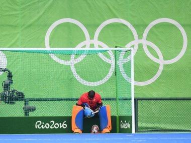 File photo of P R Sreejesh. AFP