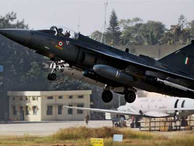 A file photo of Tejas fighter aircraft. PTI
