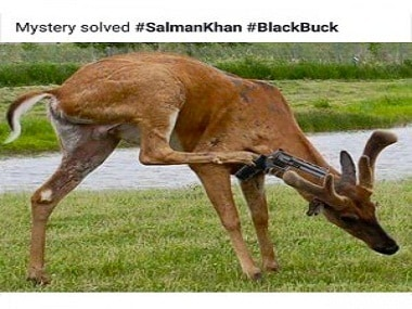 Salman showed us this picture on his phone, proof that he had nothing to do with poaching any chinkaras