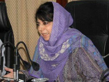 File image of Jammu and Kashmir CM Mehbooba Mufti. PTI