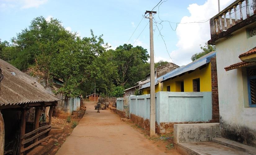 The street in Brainguda Panchayat ward where the Pradhan brothers live. Firstpost/Rahul Pandita